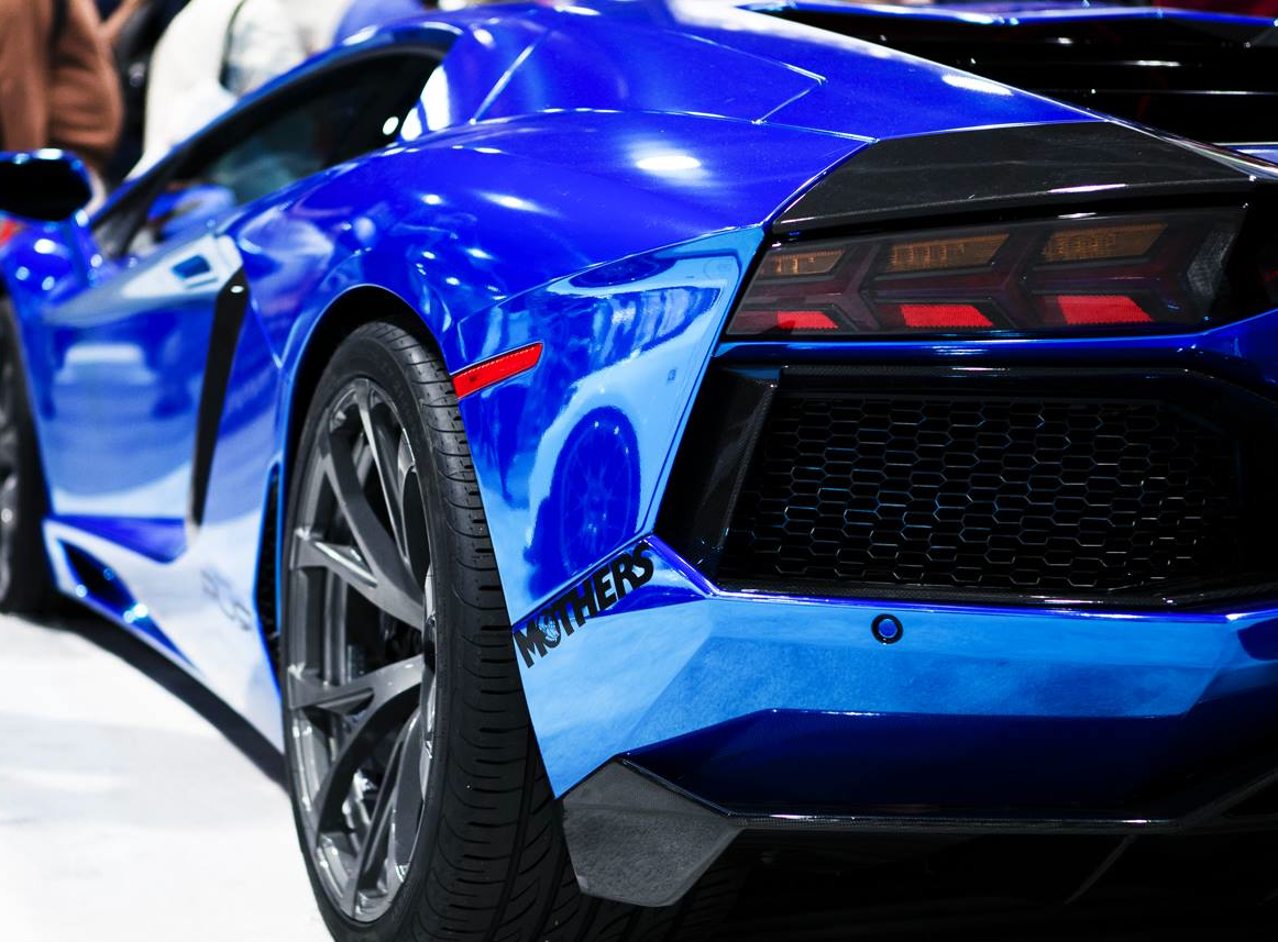 Chrome-Blue-Lamborghini