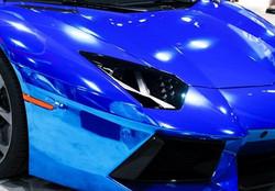 Chrome-Blue-Lamborghini