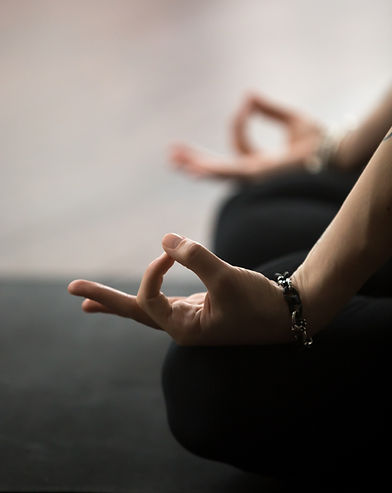 Mudra gesture performed with female fing