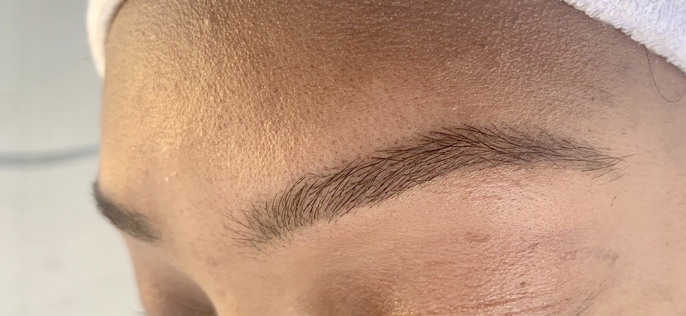 After brow wax
