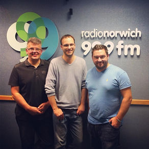 Nigel and Phil, at Radio Noriwch