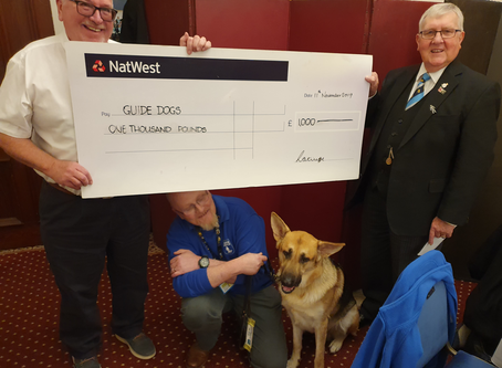 Charterhouse hits 1K in support of Guide Dogs for the Blind