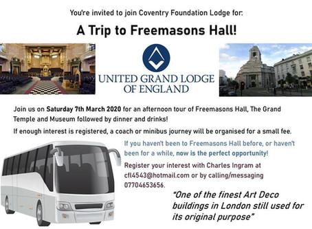Visit Freemasons Hall in 2020