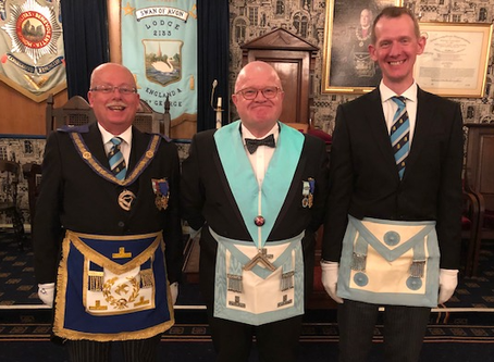 APGM on hand as his son becomes a Master Mason