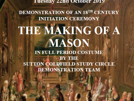 The Making of a Mason - a night not to be missed