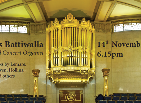 EVER WONDERED WHAT AN ORGAN CONCERT SOUNDS LIKE IN FREEMASONS' HALL?