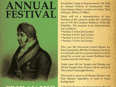Emulation Lodge of Improvement Annual Festival 2019
