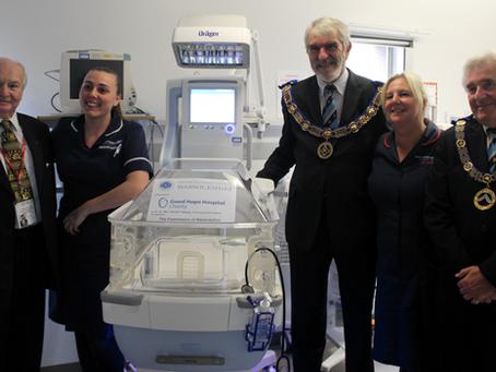 Two new incubators for Good Hope Hospital and Heartlands Hospital