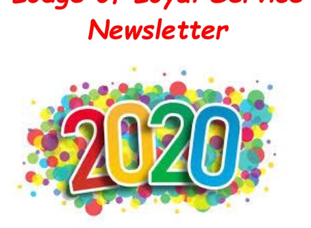 Lodge of Loyal Service New Year Newsletter