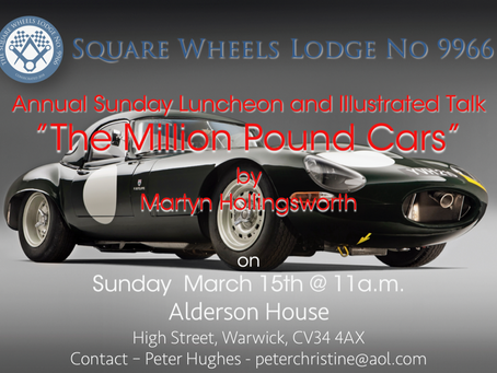 The Million Pound Cars and Lunch