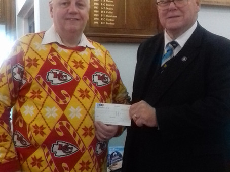 Lodge of Goodwill (via TSB Bank) donates to Knowle Food Bank Fund