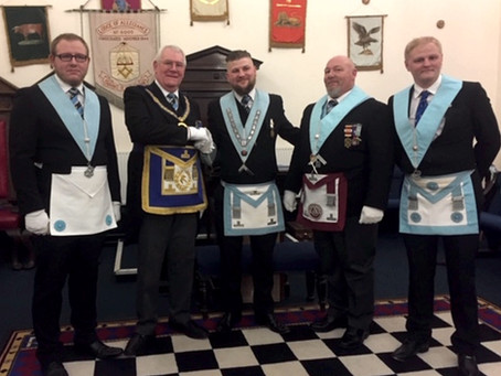 Lodge of Allegiance Installation - a Family Affair