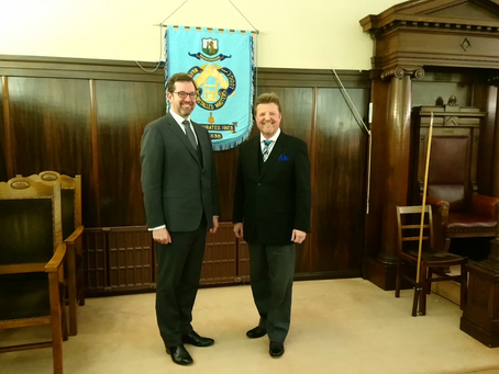 Grand Secretary inspires Warwickshire Installed Masters Lodge