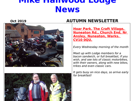 Mike Hailwood Lodge Autumn Newsletter