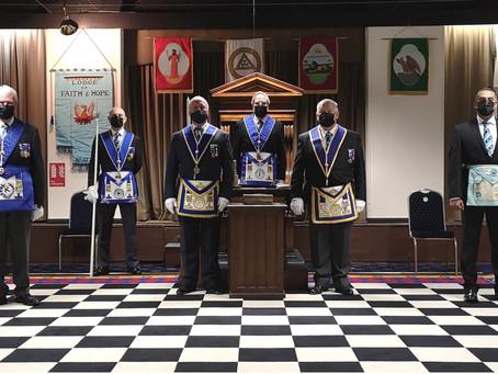 Lodge of Faith & Hope meets again at Yenton Masonic Centre
