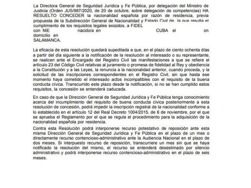 SOLICITUD DE NACIONALIDAD EN OFICINA DE CORREOS-AGILIZADA CON RECURSO CONTENCIOSO
