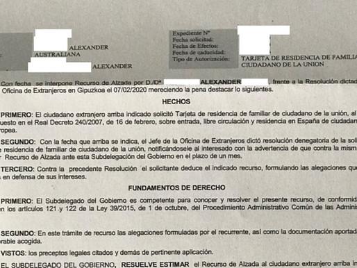 RECURSO DE ALZADA CONTRA DENEGACIÓN TARJETA COMUNITARIA RECURSOS ECONOMICOS Y SEGURO PRIVADO