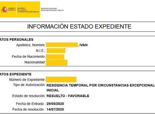 2 NUEVAS AUTORIZACIONES DE RESIDENCIA POR ARRAIGO LABORAL CONCEDIDAS EN MENOS DE 2 MESES.