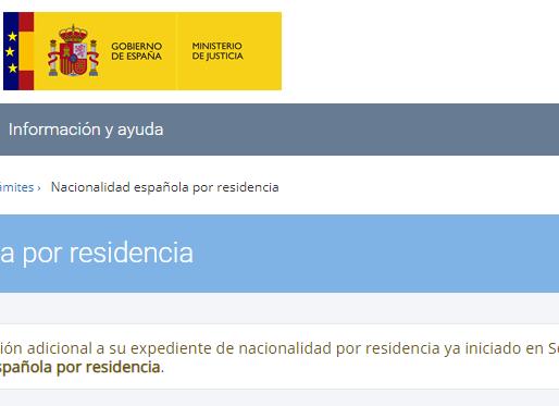 NOVEDADES PRESENTACIÓN TELEMÁTICA DE LA SOLICITUD DE NACIONALIDAD ESPAÑOLA 2020