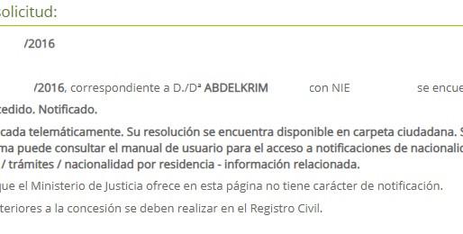 TRAS EN PLAN DE CHOQUE DE NACIONALIDAD, NUEVAS RESOLUCIONES DE CONCESIÓN DE NACIONALIDAD