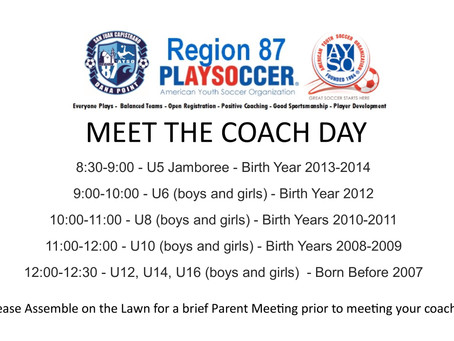 August 26th is MEET THE COACH DAY!