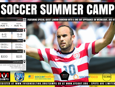 Region 87 Summer Camp with Landon Donovan as a special guest