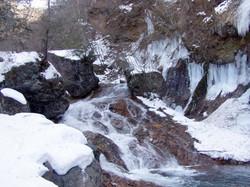 横谷渓谷冬