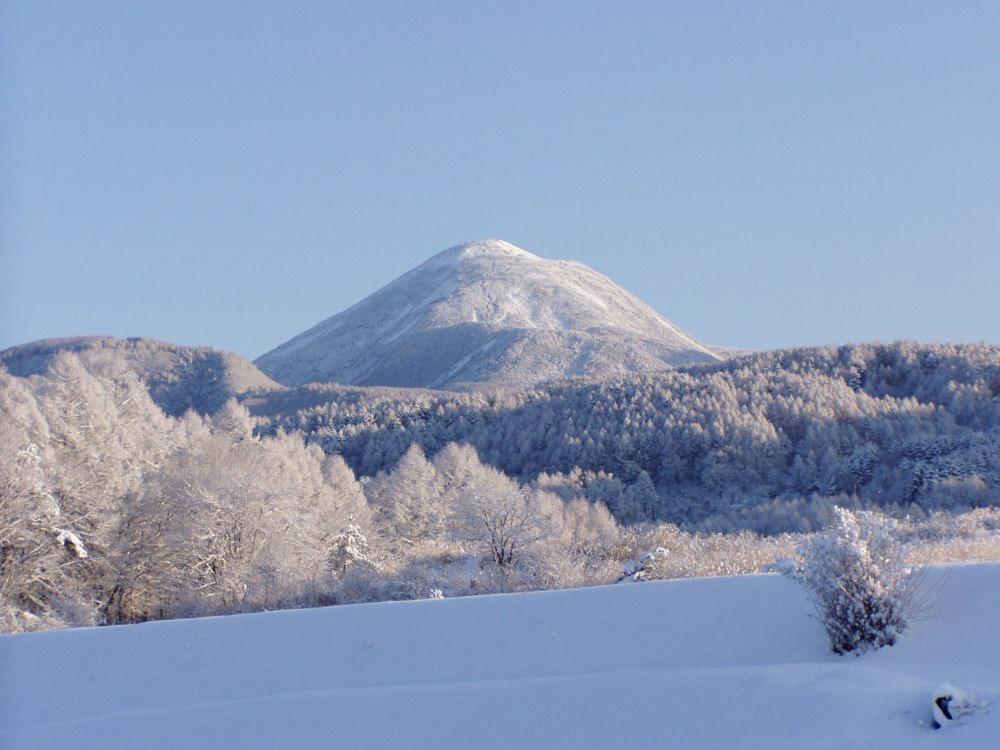 蓼科山冬景色
