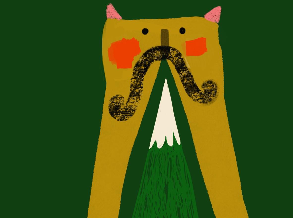 moustache + mountain
