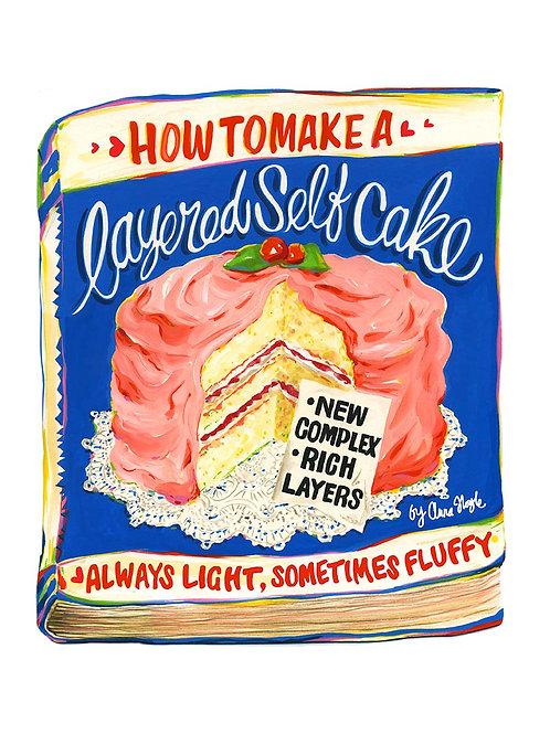 A3 layered self-cake
