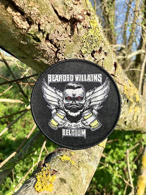 Bearded Villains Belgium Skull Patch