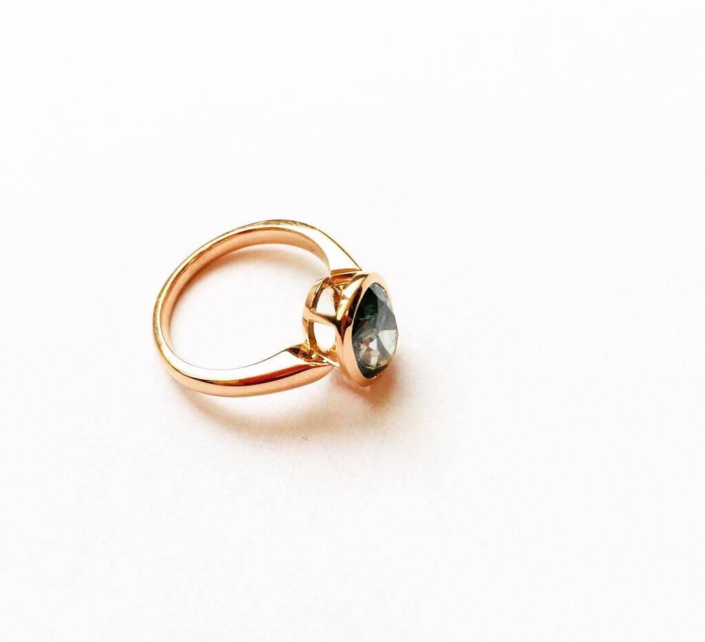 Engagementring, diamond, 750Rosegold