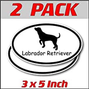 3 x 5 inch Oval (2 Pack) | Labrador Retriever