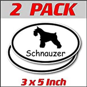 3 x 5 inch Oval (2 Pack) | Schnauzer