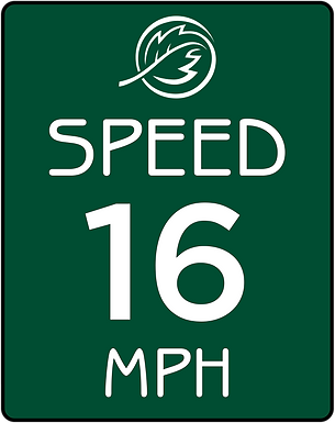 Wood Base, Alupanel Faced Speed Sign