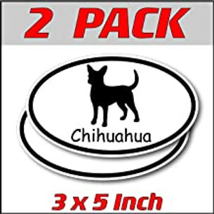 3 x 5 inch Oval (2 Pack) | Chihuahua
