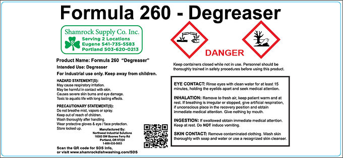 Formula 260 Spray Bottle Labels (Sheet of 10)