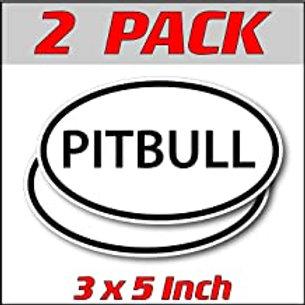 3 x 5 inch Oval (2 Pack) | Pitbull