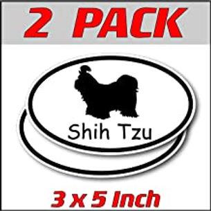 3 x 5 inch Oval (2 Pack) | Shih Tzu