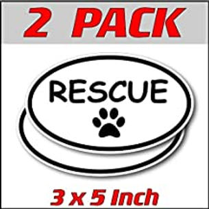 3 x 5 inch Oval (2 Pack) | Rescue
