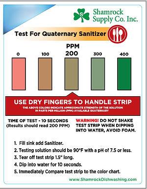 Quaternary Testing Chart (Sheet of 9)