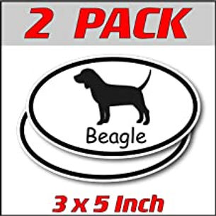 3 x 5 inch Oval (2 Pack) | Beagle
