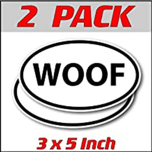 3 x 5 inch Oval (2 Pack) | WOOF
