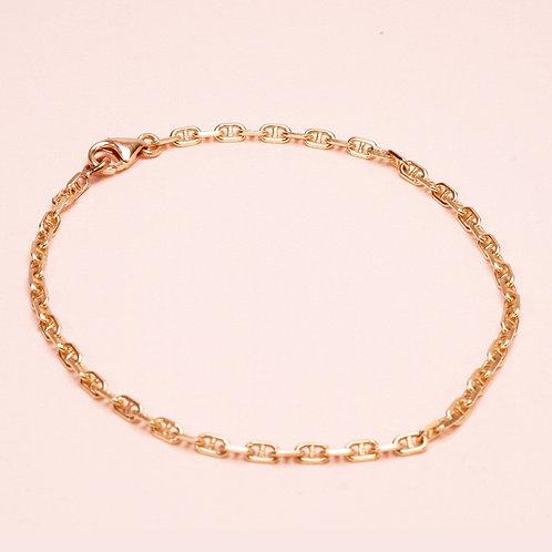 9k Horseshoe Chain Bracelet