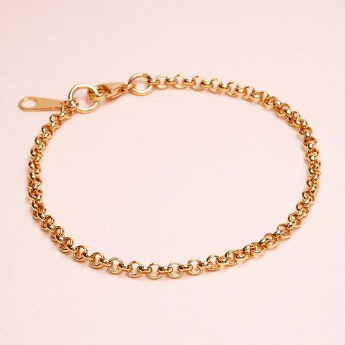9k Half Round Chain Bracelet