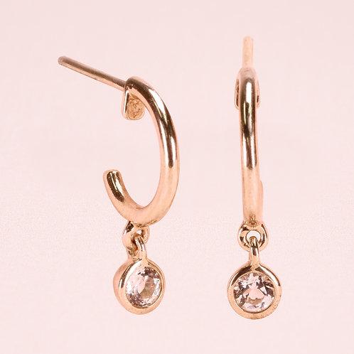 9K WhiteSapphire Stud Earring