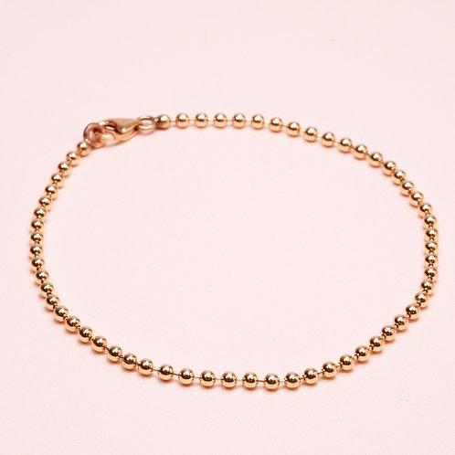 9k Shiny Ball Gold Bracelet