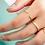 Thumbnail: 9k Bezel Pave Diamond Open Ring