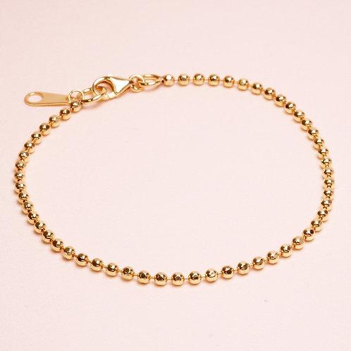 9k Ball Cut Chain Bracelet