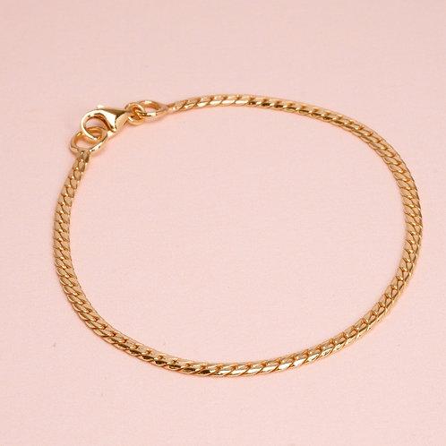 9k Snake Flat Chain Bracelet